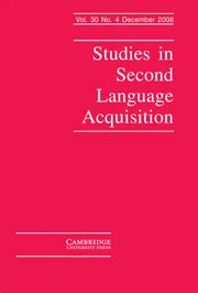 Research paper related to language acquisition